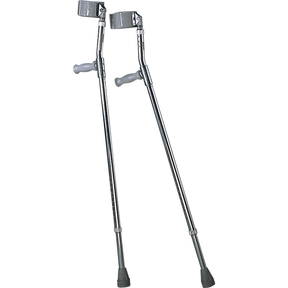 Medline Youth Aluminum Forearm Crutches-MDS805161 - The Home Depot