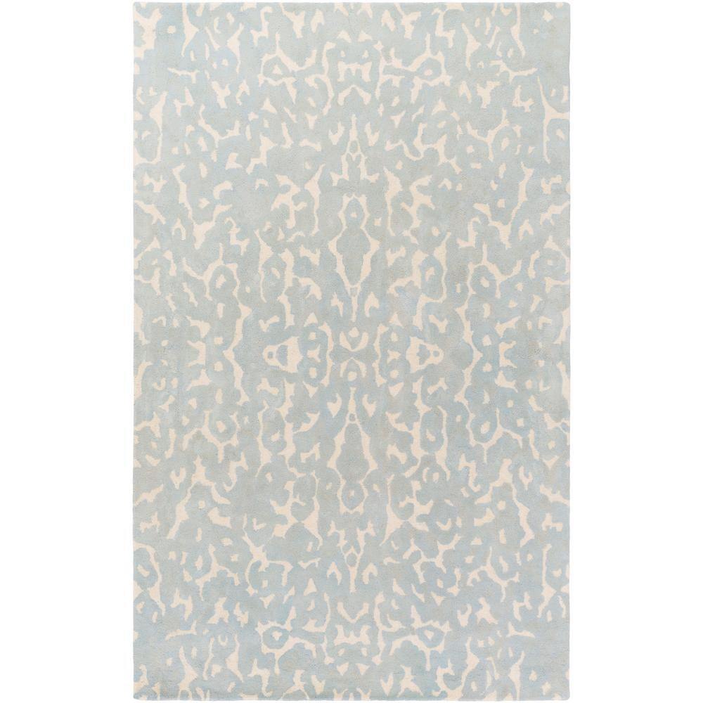 Geology Addison Light Blue 4 ft. x 6 ft. Indoor Area