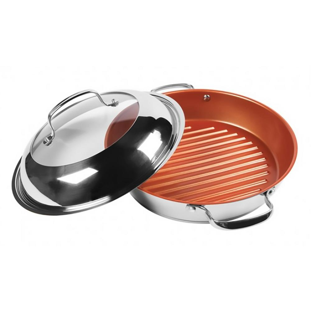 Stainless Steel Grill Pan with Non-Stick Coating