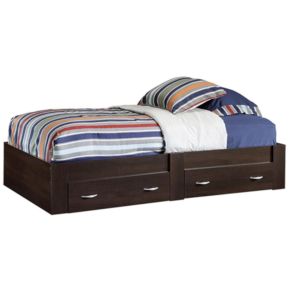 SAUDER Beginnings Collection Twin-Size Platform Bed in Cinnamon Cherry-415465 -