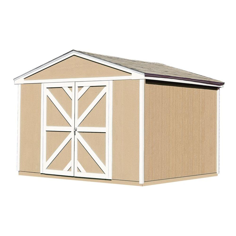 Handy Home Products Somerset 10 ft. x 8 ft. Wood Storage