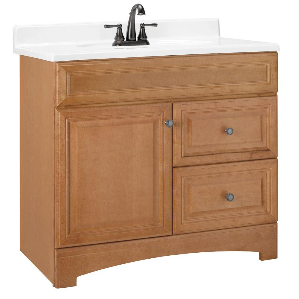 American Classics Cambria 36 in. W x 21 in. D x 33.5 in. H Vanity Cabinet Only in Harvest