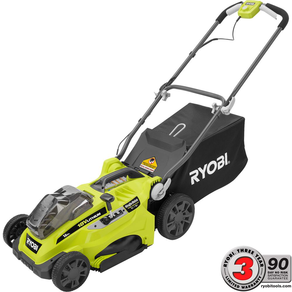 ryobi 16 in one 18 volt lithium ion cordless battery push lawn mower battery and charger not. Black Bedroom Furniture Sets. Home Design Ideas