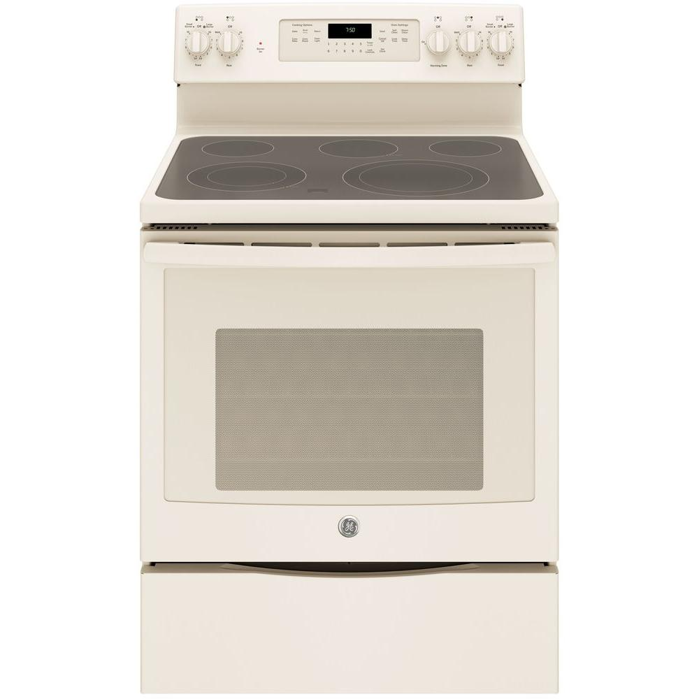 5.3 cu. ft. Electric Range with Self-Cleaning Convection Oven in Bisque