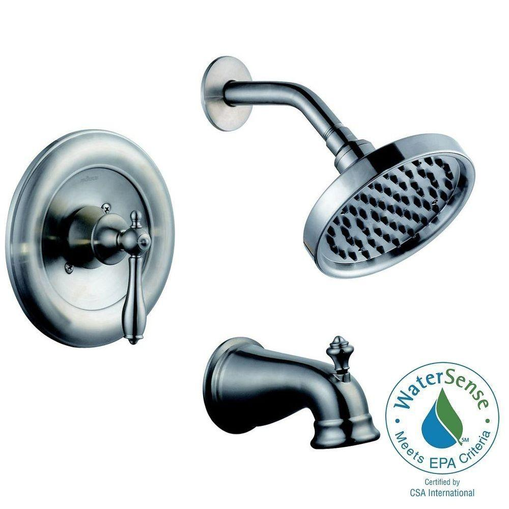 Estates Single-Handle 1-Spray Shower Faucet in Brushed Nickel