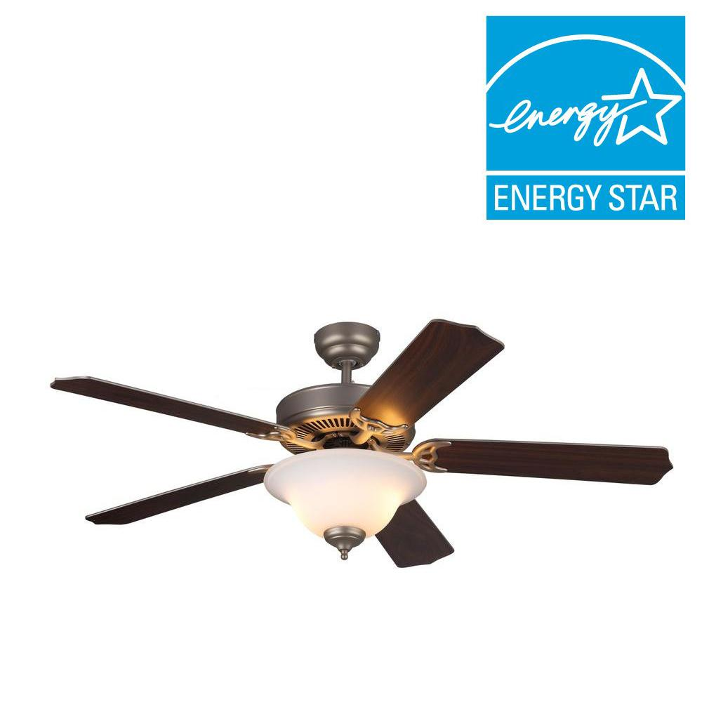 Homeowner II 52 in. Brushed Pewter Silver Ceiling Fan