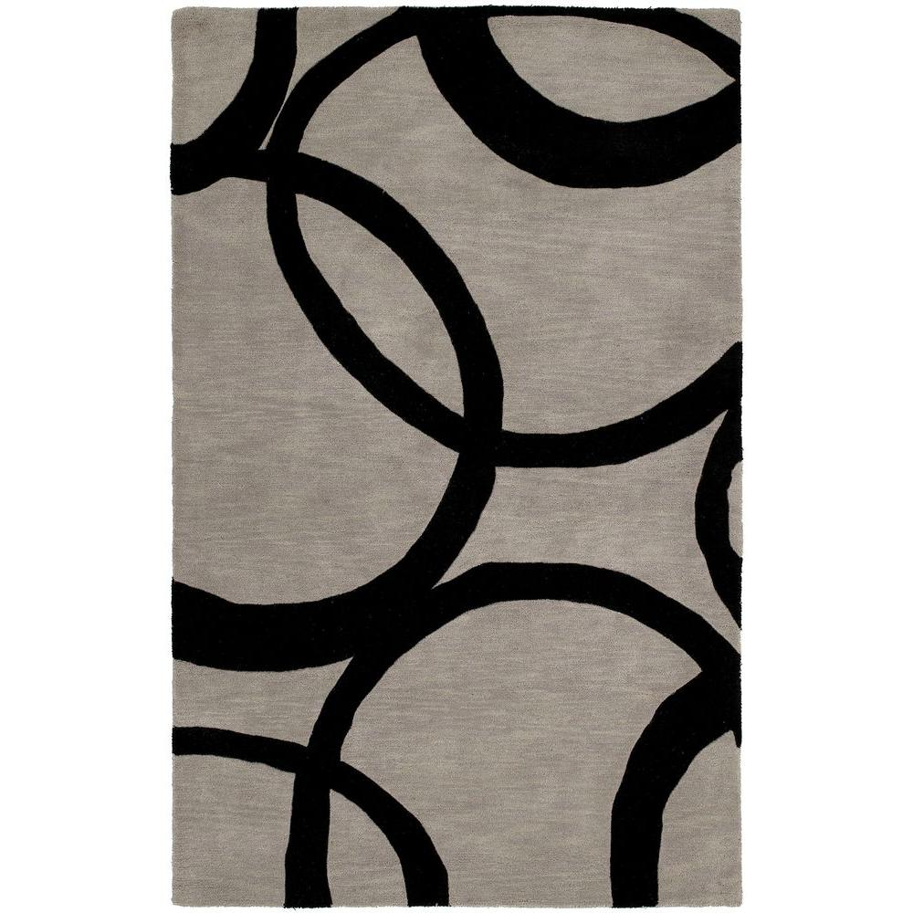 Kaleen Astronomy Gamma Graphite 5 ft. x 7 ft. 9 in. Area Rug