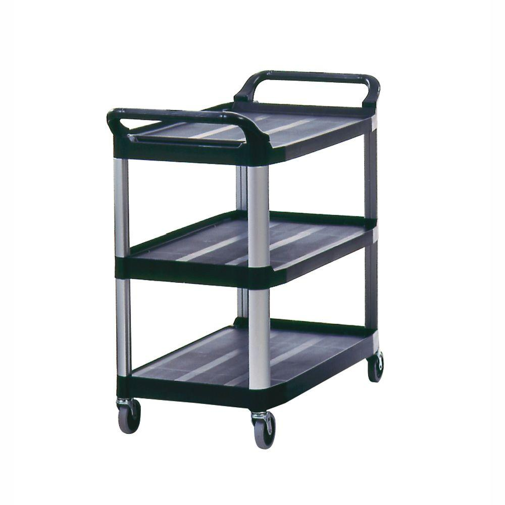 300 lb. Holding Capacity Utility Cart with Swivel Casters in Black