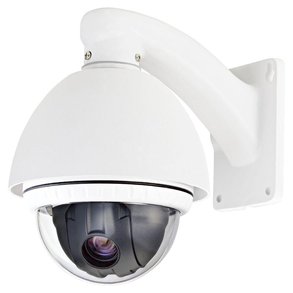 SPT Wired 500TVL PTZ Indoor/Outdoor CCD Dome Surveillance Camera with 10X Optical Zoom