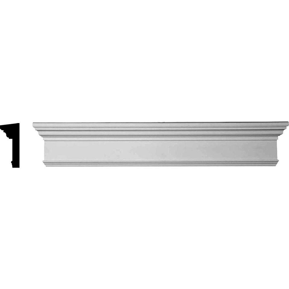 1 in. x 58 in. x 7-1/4 in. Polyurethane Crosshead Moulding with Trim