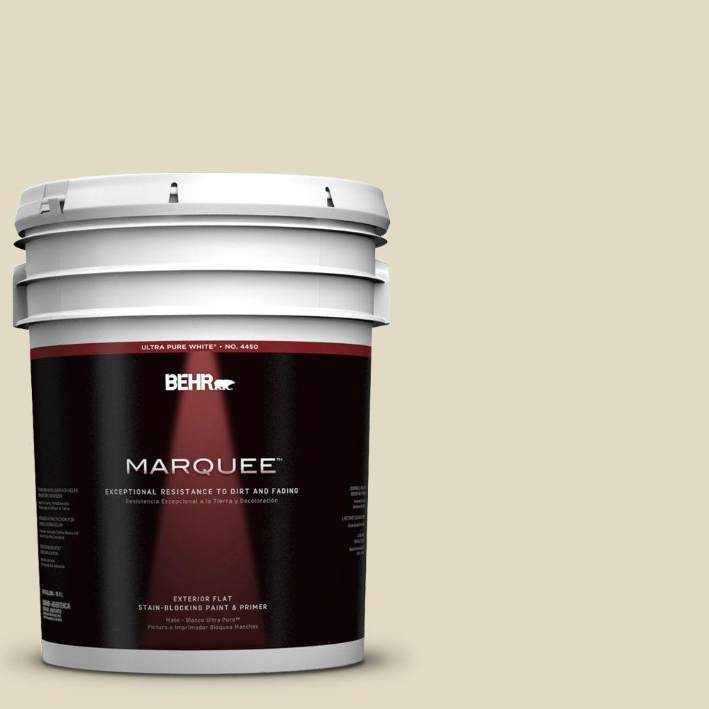 BEHR MARQUEE 5-gal. #770C-2 Belvedere Cream Flat Exterior Paint-445405 - The