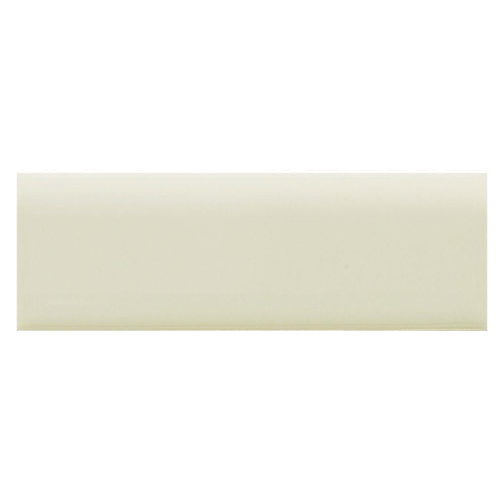 Daltile Semi-Gloss Mint Ice 2 in. x 6 in. Ceramic Bullnose Trim Wall Tile-DISCONTINUED