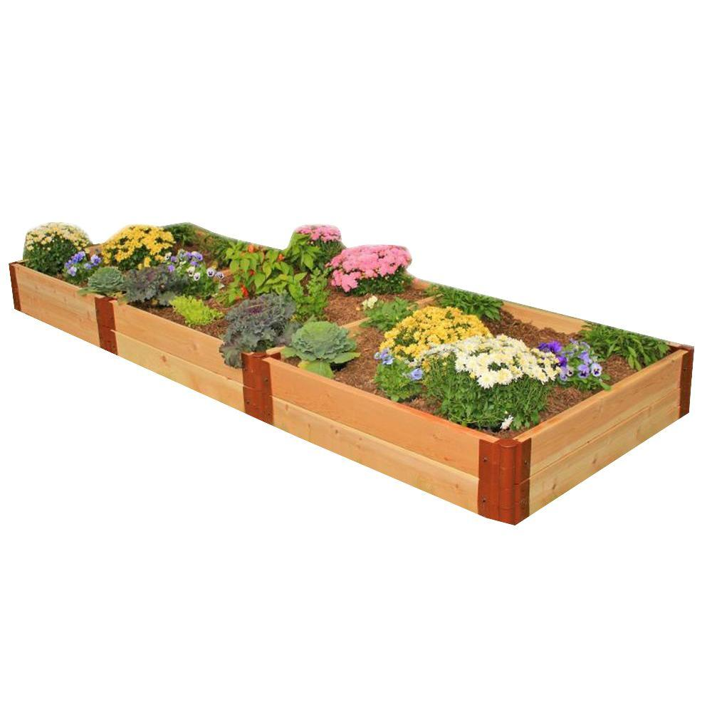 Detail Of One Man Boulder Edging For Raised Beds: NewTechWood 14.4 In. X 43.2 In. Composite Lumber Patio