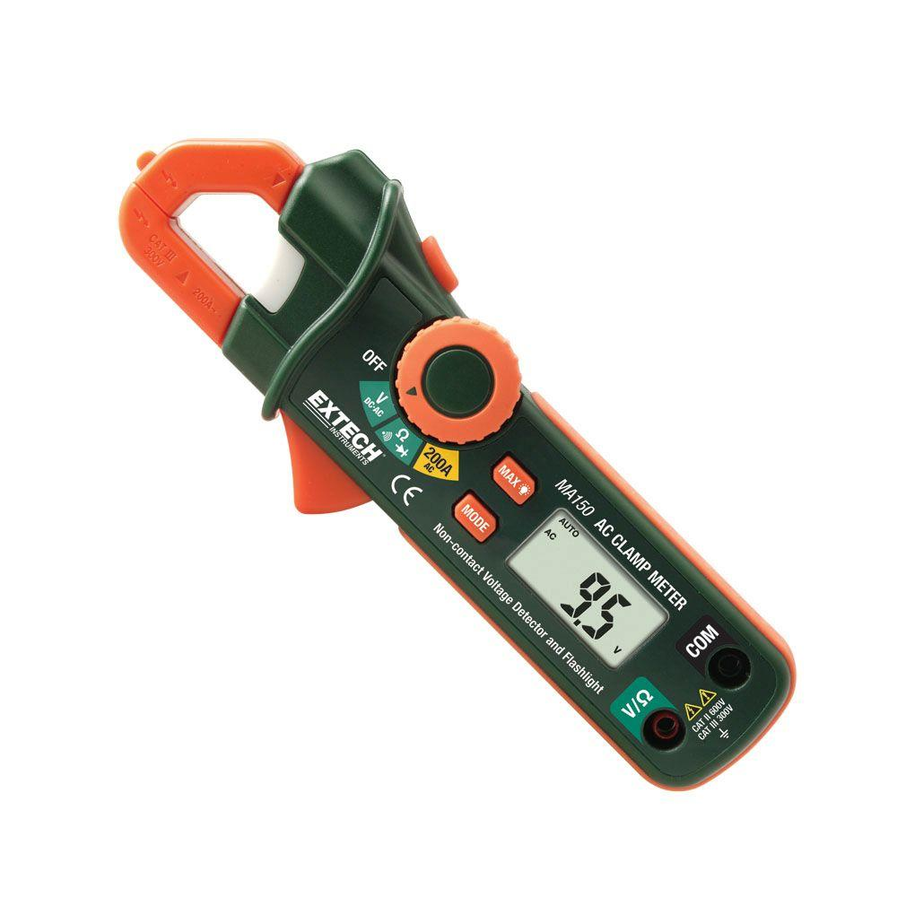 Extech Instruments Manual Clamp Meter Mini 200 Amp ACDC