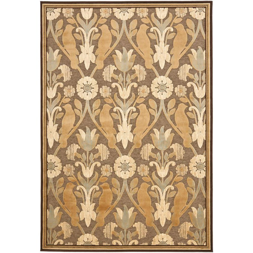 Paradise Brown 8 ft. x 11 ft. 2 in. Area Rug