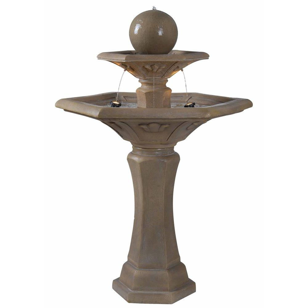 Kenroy Home Provence Lighted Outdoor Fountain
