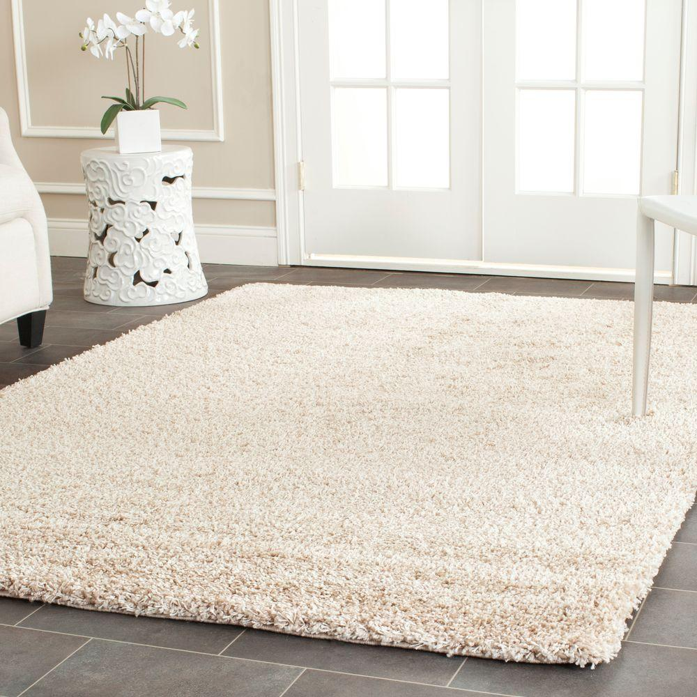 shag beige 8 ft 6 in x 12 ft area rug sg151 1313 9 the home depot