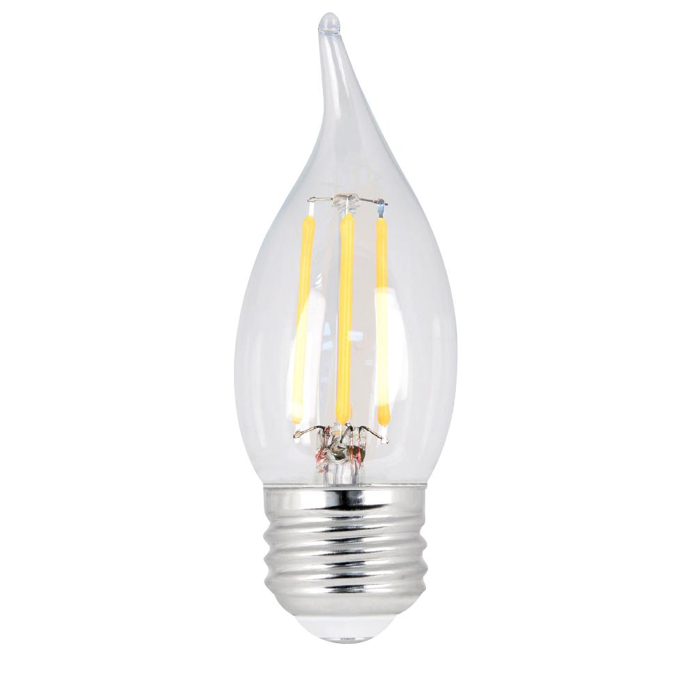 40W Equivalent Daylight CA10 Dimmable Clear Filament LED Medium Base Light
