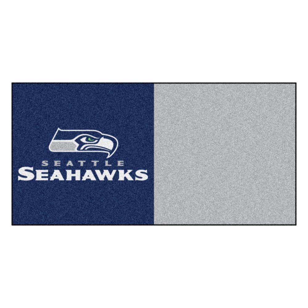 NFL - Seattle Seahawks Navy and Grey Nylon 18 in. x