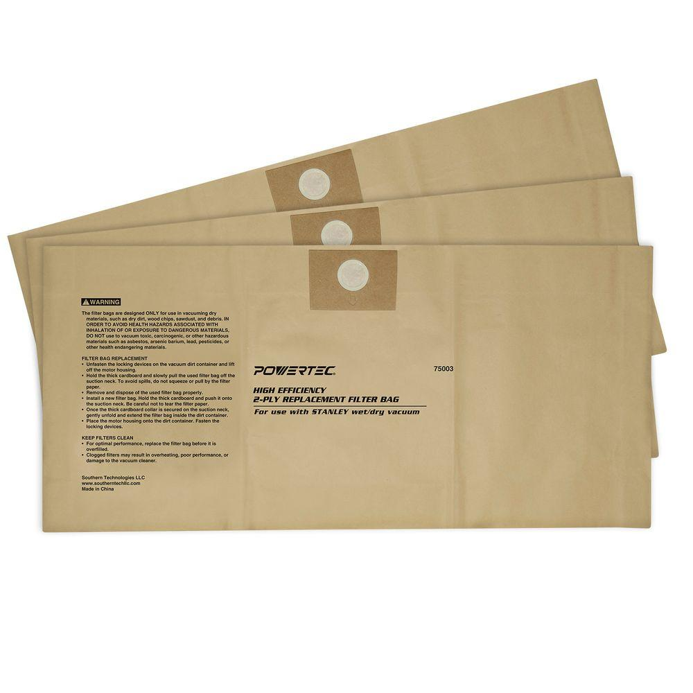 4 Gal. to 5 Gal. High Efficiency Filter Bags for Stanley