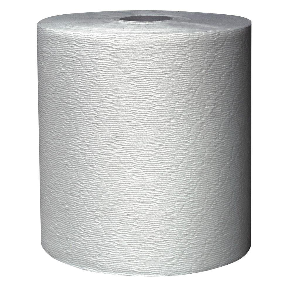 8 in. x 425 ft. White Non-Perforated Hard-Roll Paper Towels (12 Rolls)