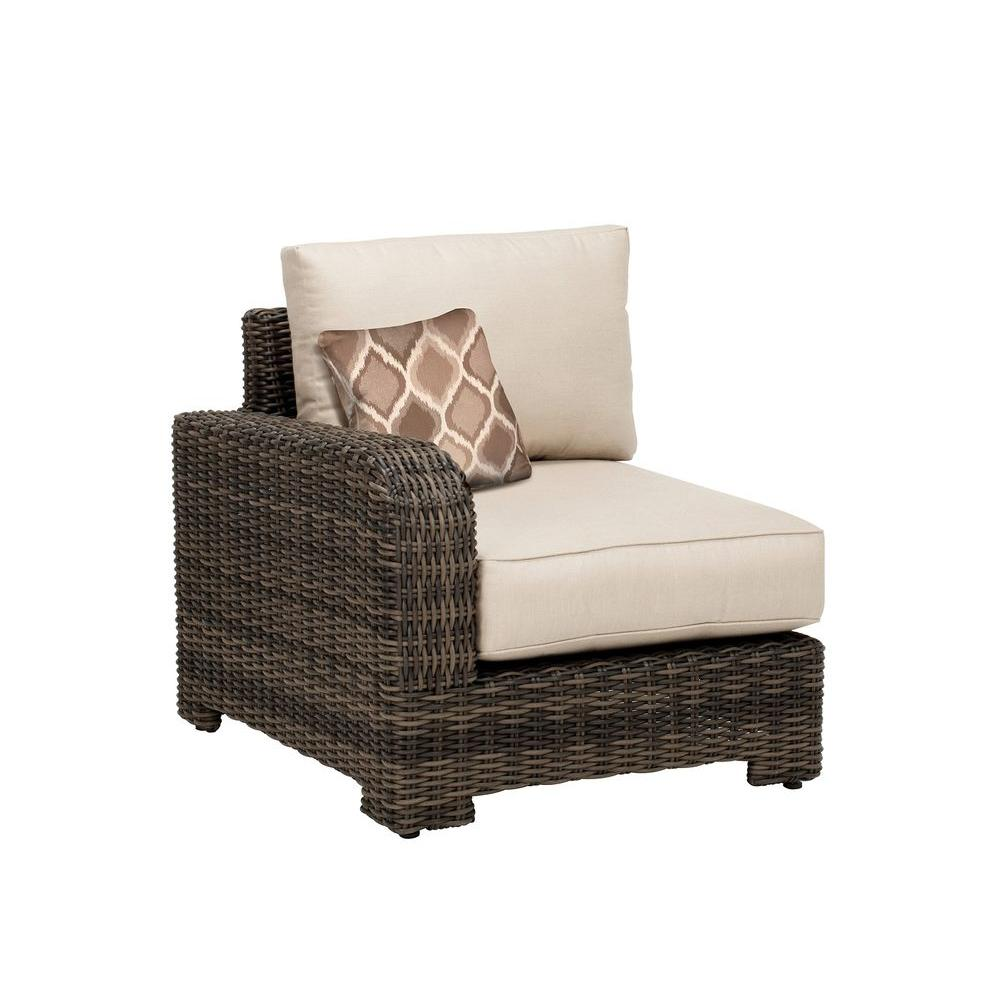 Northshore Left Arm Patio Sectional Chair With Sparrow Cushion And Empire