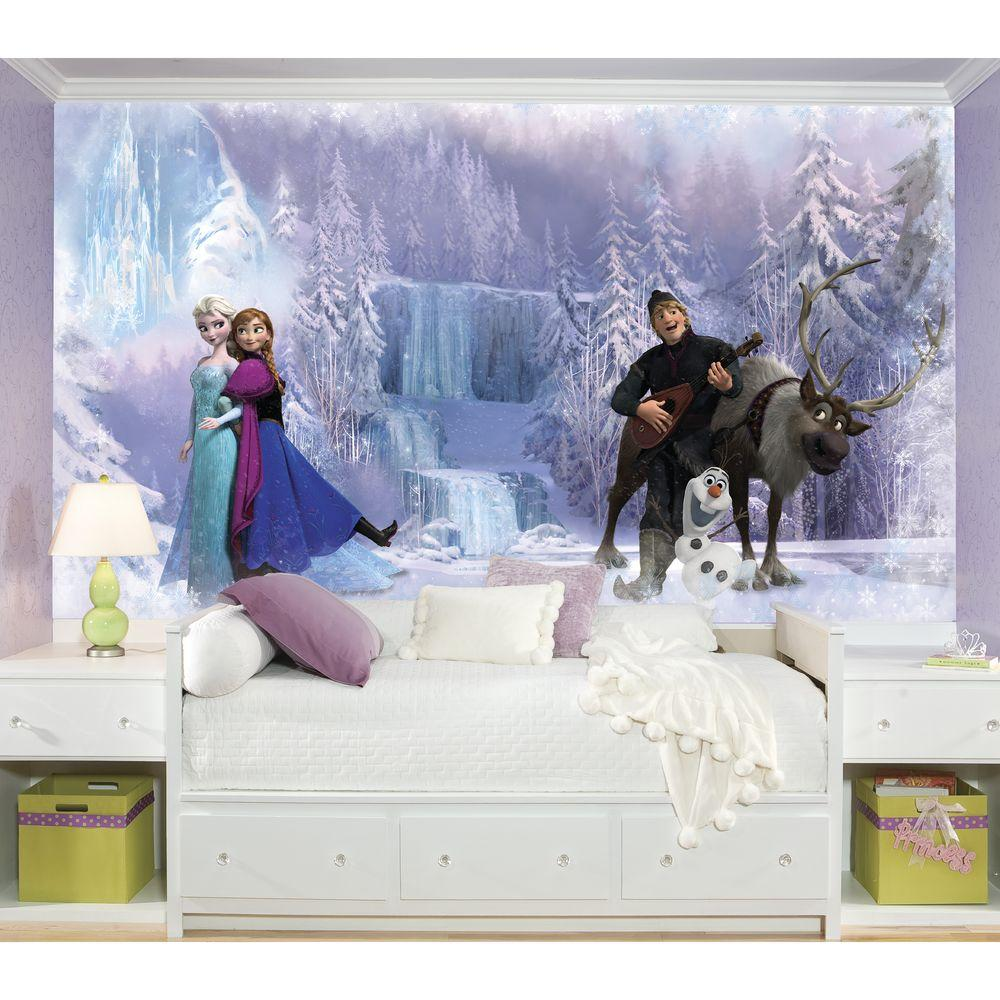 RoomMates 72 in. x 126 in. Disney Frozen Chair Rail Pre-Pasted Wall Mural