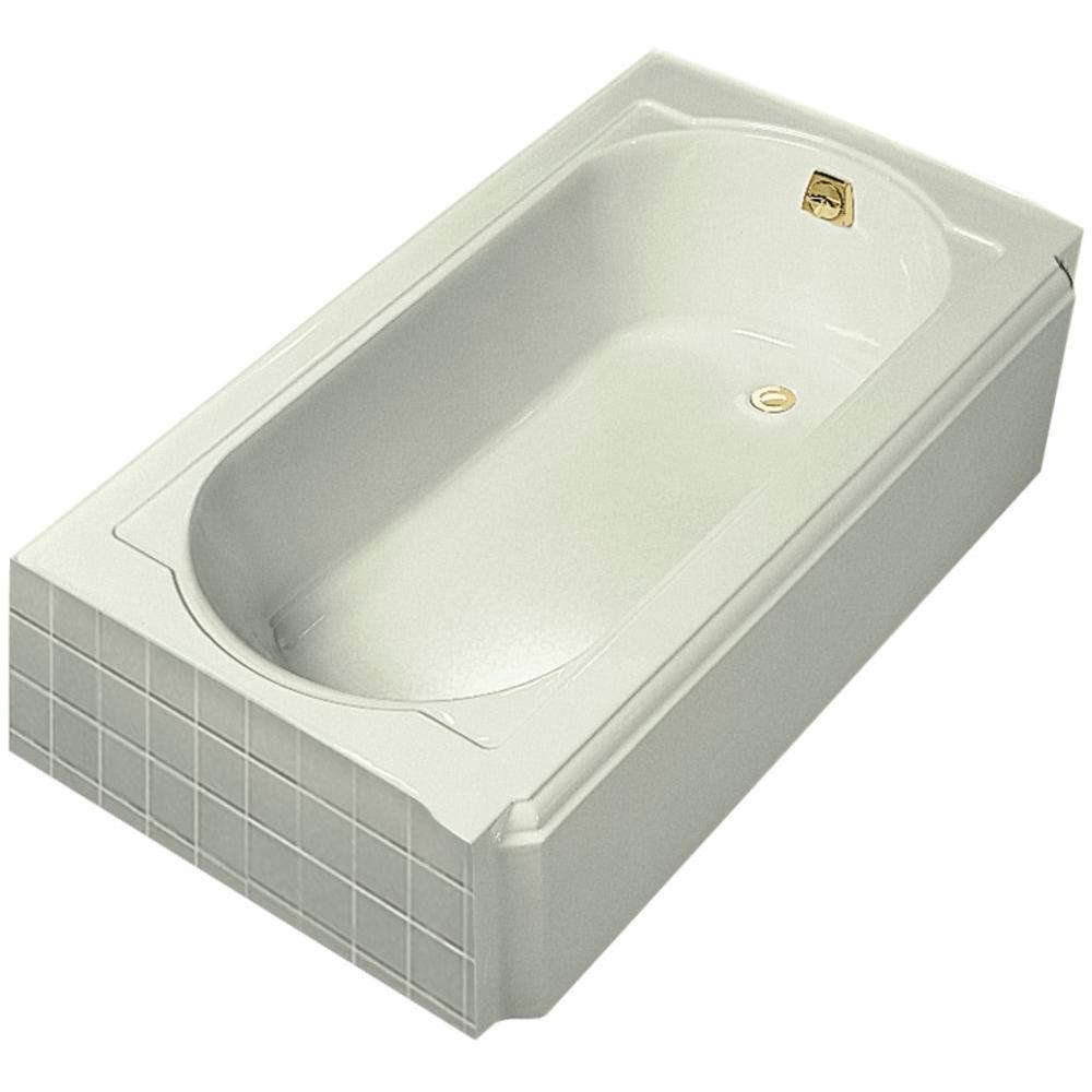 Memoirs 5 ft. Right-Hand Drain Cast Iron Soaking Tub in Biscuit