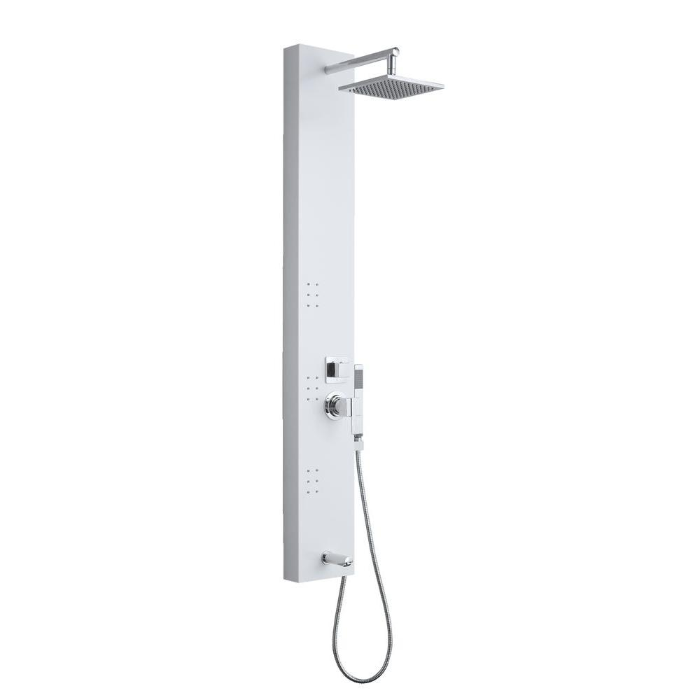OVE Decors 3-Jet Shower Tower System in White-OSC-24 - The Home