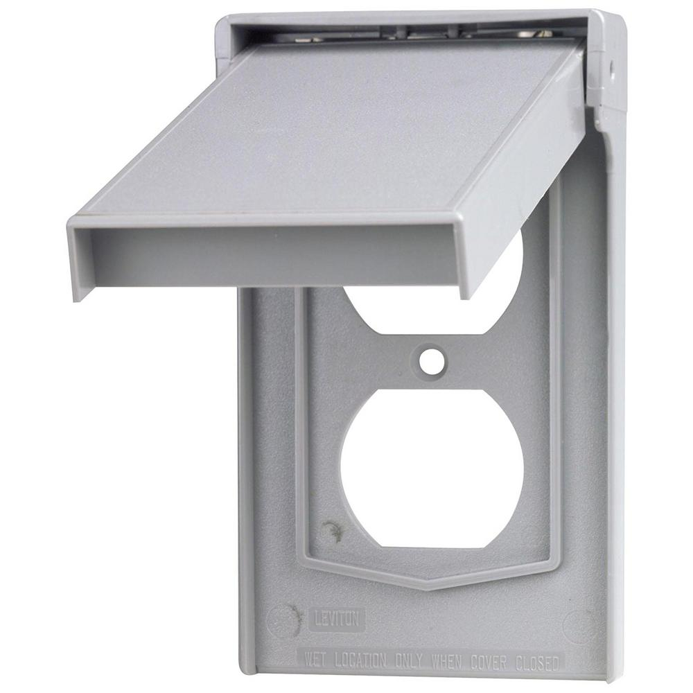 1-Gang Rain Tight Weather Resistant Duplex Receptacle Vertical Mount Wallplate
