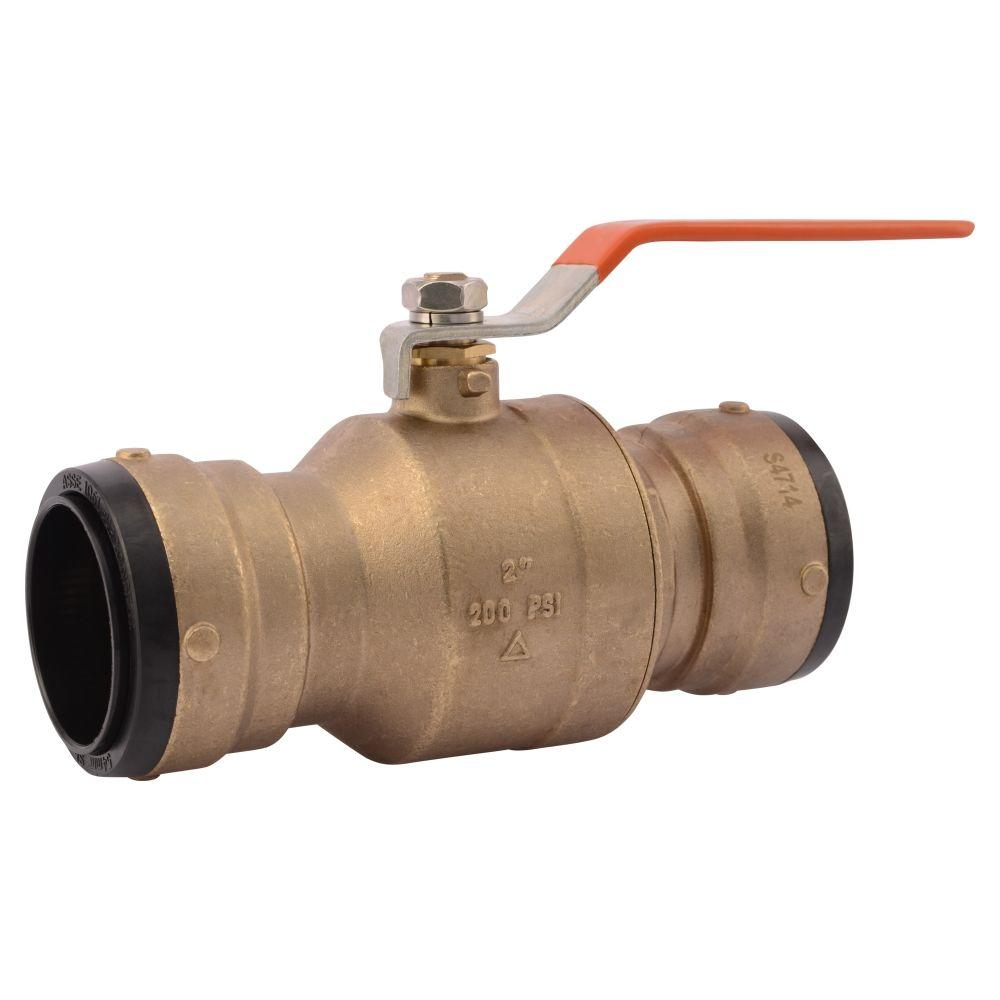 2 in. Brass Push-to-Connect Ball Valve