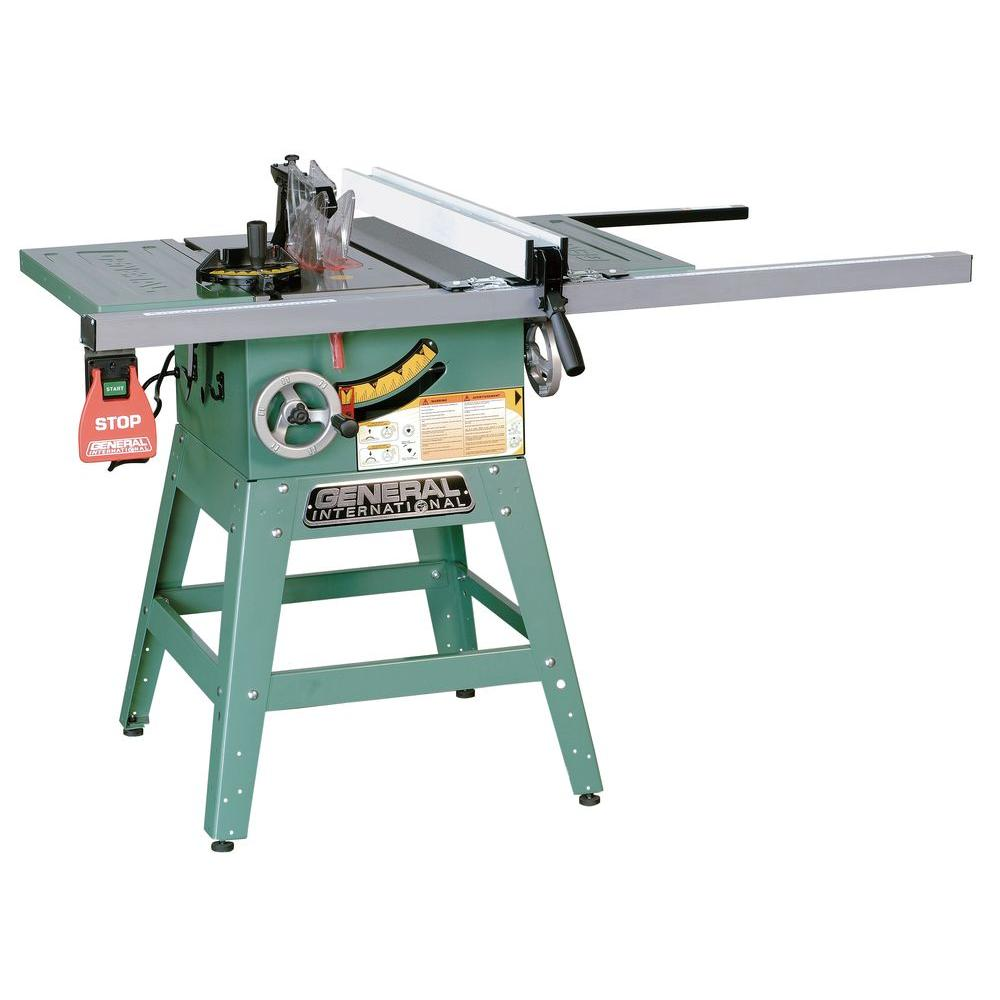230-Volt 10 in. Job Site Table Saw with Legs