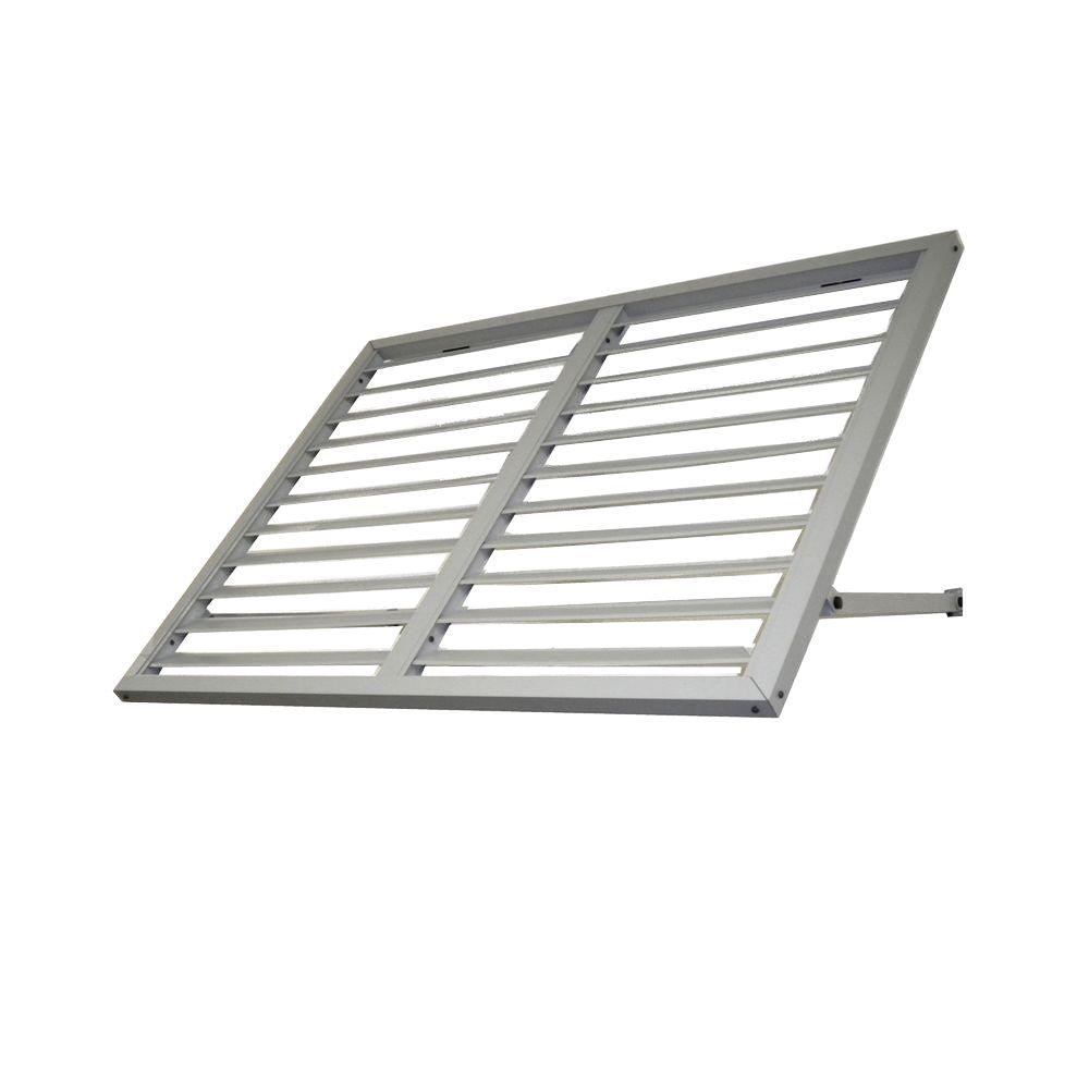 Beauty-Mark 8.6 ft. Ohio Metal Shutter Awning (104 in. W x