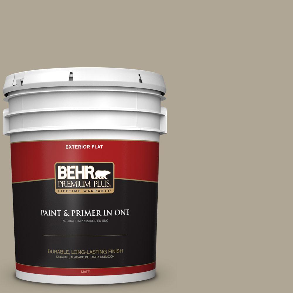5 gal. #PPU8-19 Stone Walls Flat Exterior Paint
