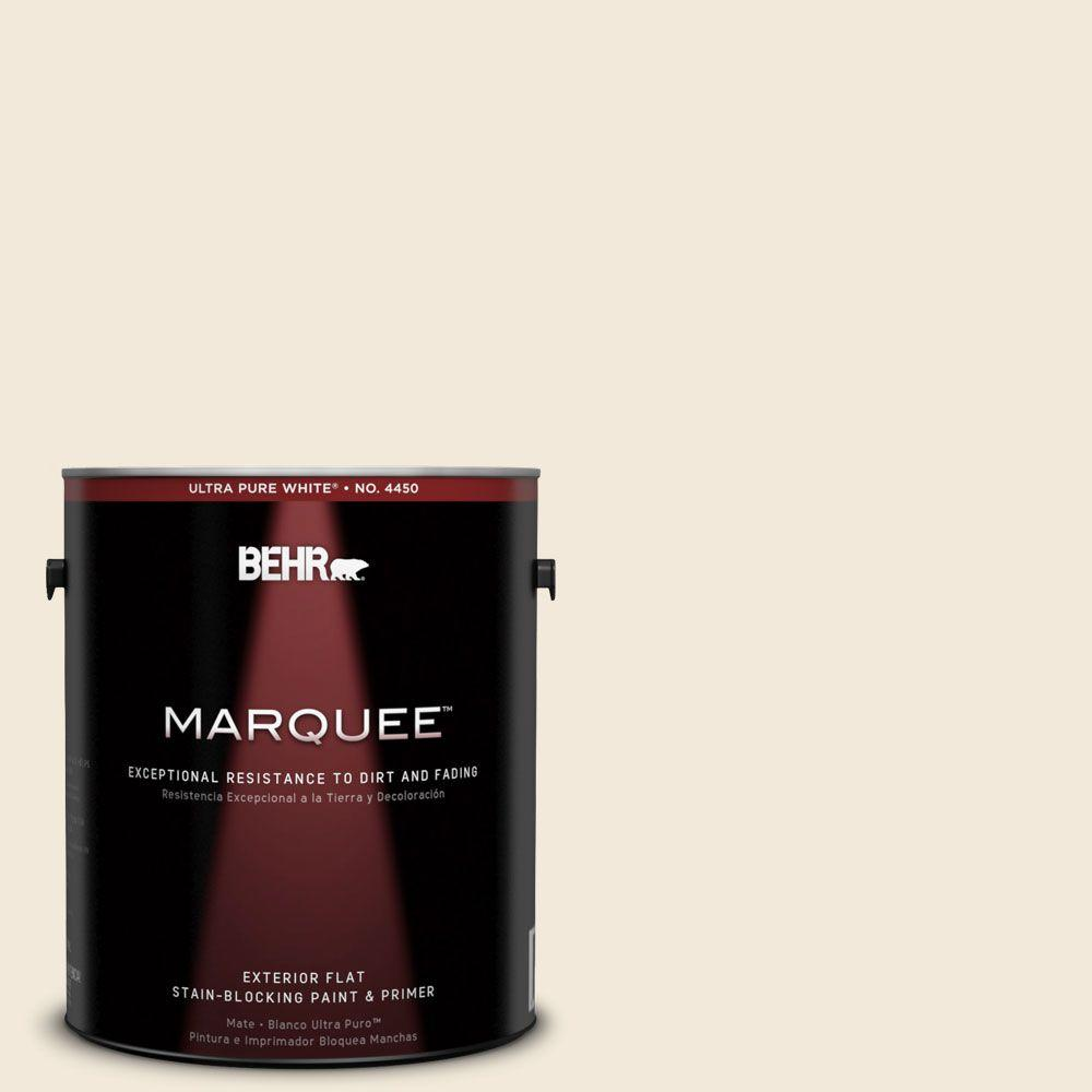BEHR MARQUEE 1-gal. #740C-1 Seaside Sand Flat Exterior Paint-445001 - The