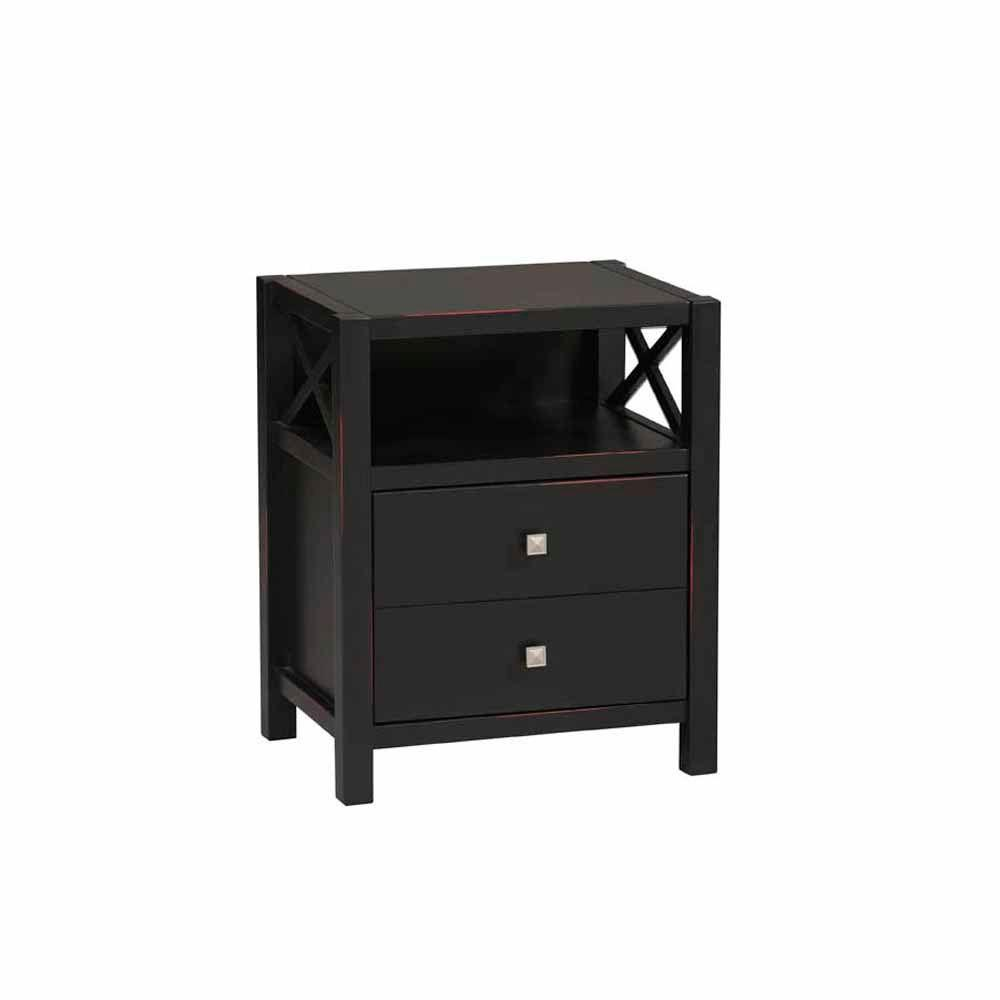 Home Decorators Collection Anna Series End Table in Antique Black