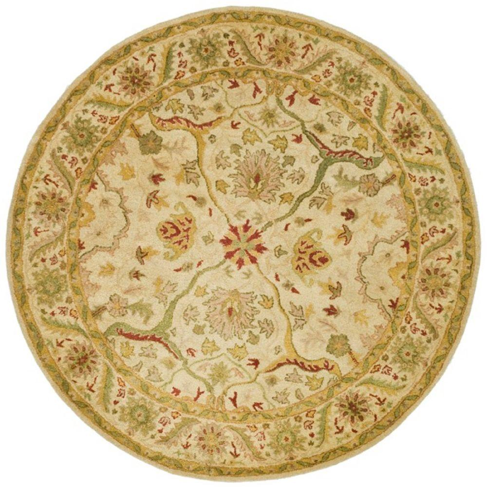 Antiquity Ivory 8 ft. x 8 ft. Round Area Rug