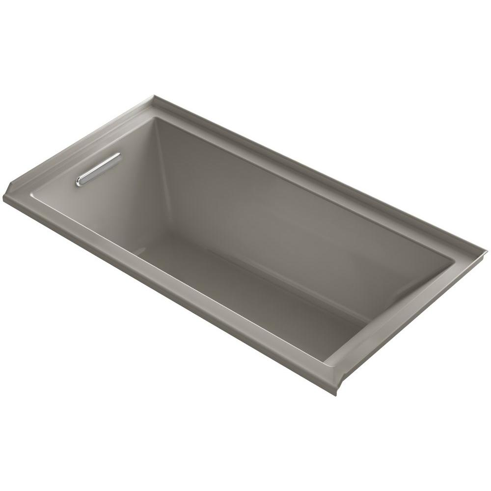 KOHLER Underscore 5 ft. Left Drain Soaking Tub in Cashmere with