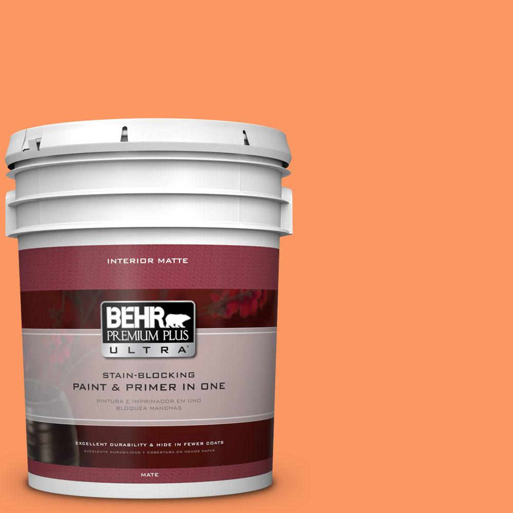 BEHR Premium Plus Ultra 5 gal. #230B-5 Indian Paint Brush Flat/Matte