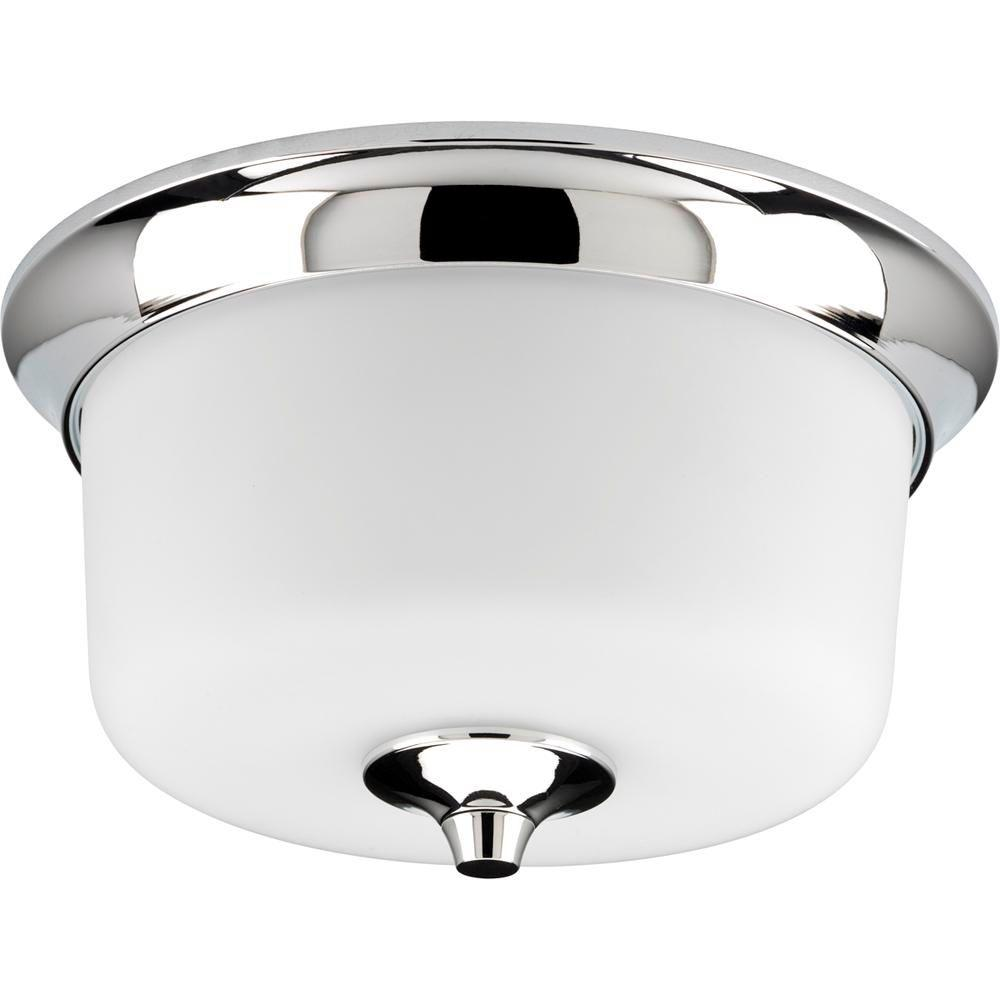 Progress Lighting Lynzie Collection Chrome 2-light Flushmount-DISCONTINUED