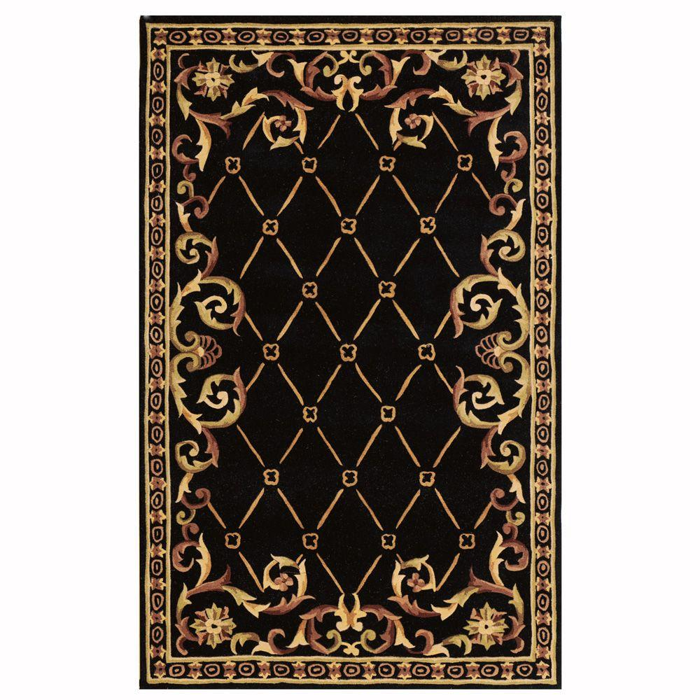 Home Decorators Collection Palisade Black 9 ft. x 13 ft. Area Rug