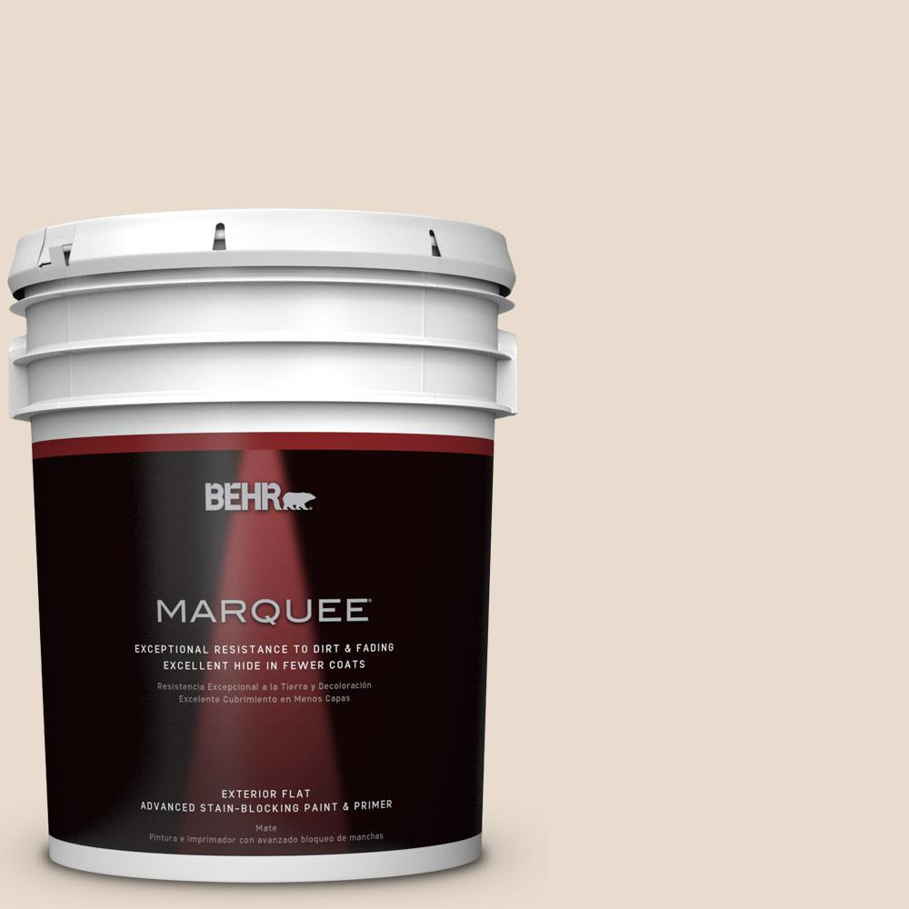 BEHR MARQUEE 5-gal. #OR-W11 White Mocha Flat Exterior Paint