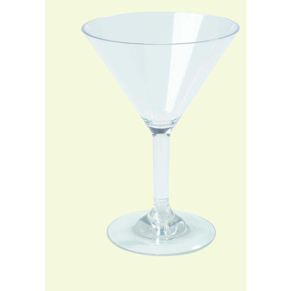 Carlisle 8 oz. Polycarbonate Martini Glass in Clear (Case of 24)