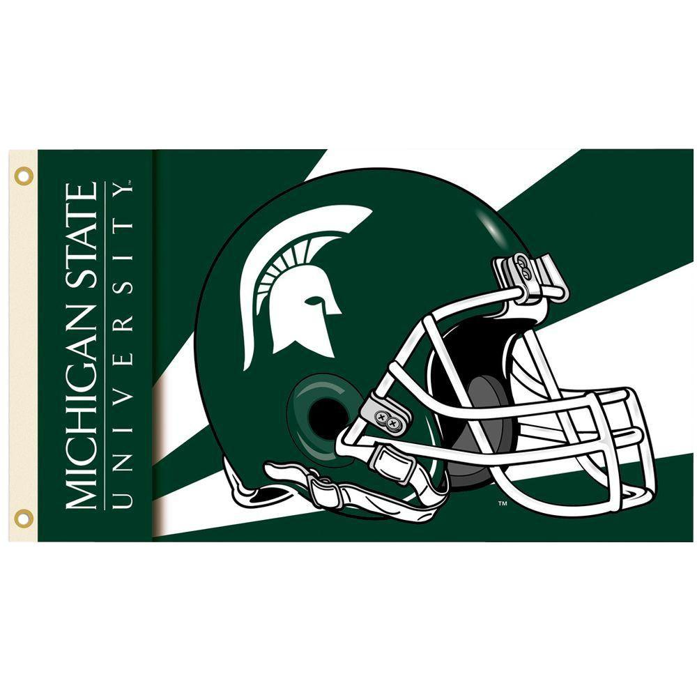 NCAA 3 ft. x 5 ft. Helmet Michigan State Flag