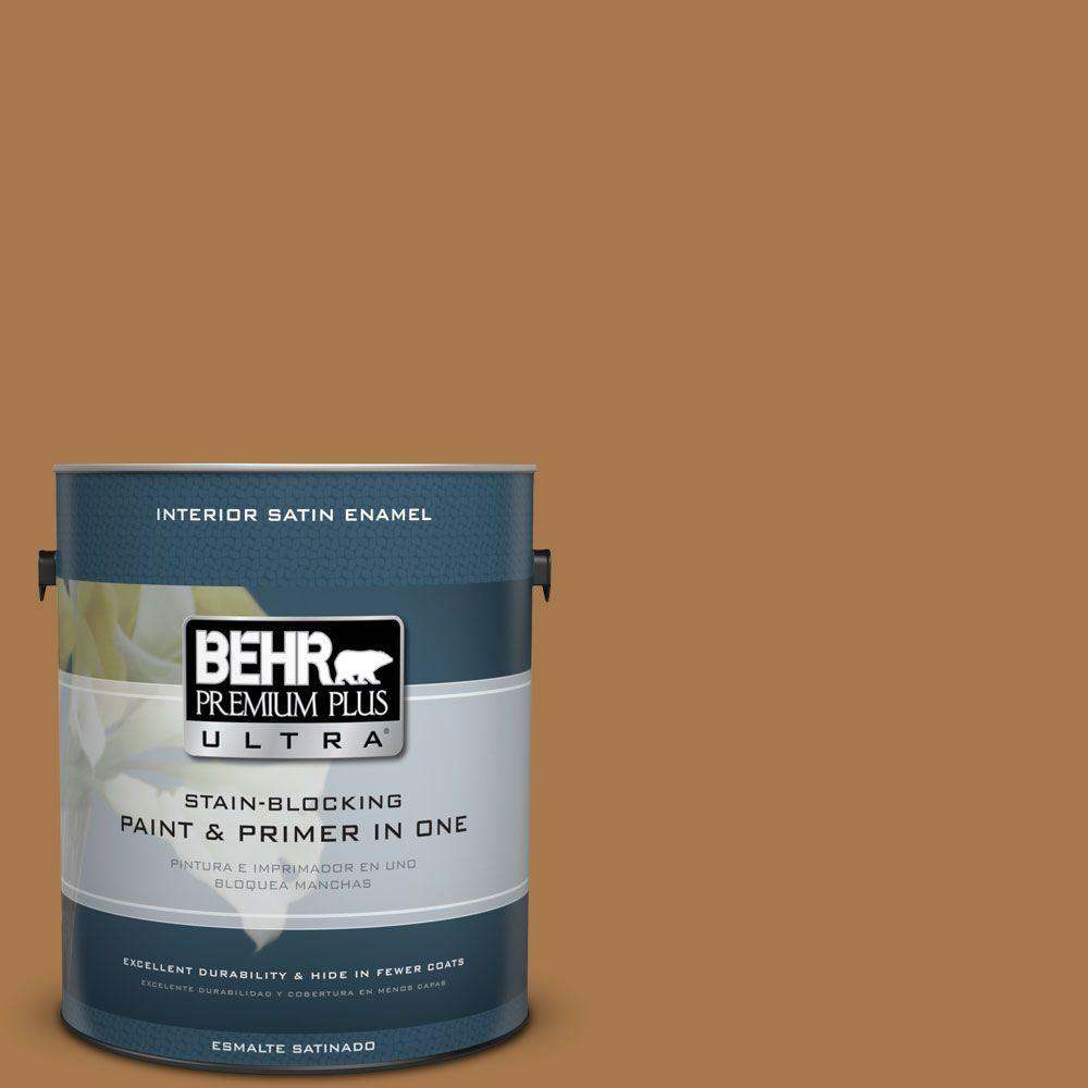 1 gal. #HDC-CL-18A Butter Caramel Satin Enamel Interior Paint