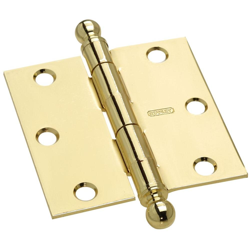 Stanley-National Hardware 3 in. x 3 in. Door Hinge with Ball Tip-DISCONTINUED