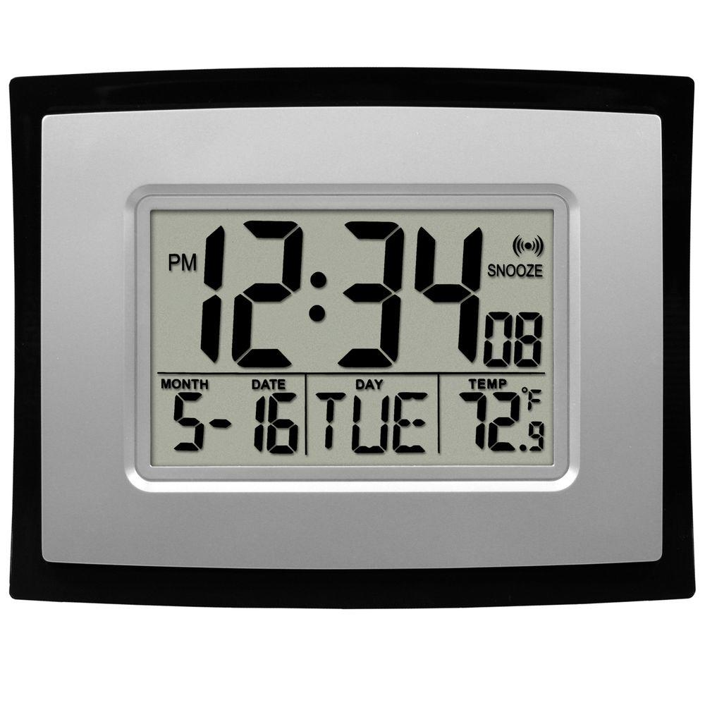 La Crosse Technology Digital Clock with Temperature-WT-8002U - The Home Depot