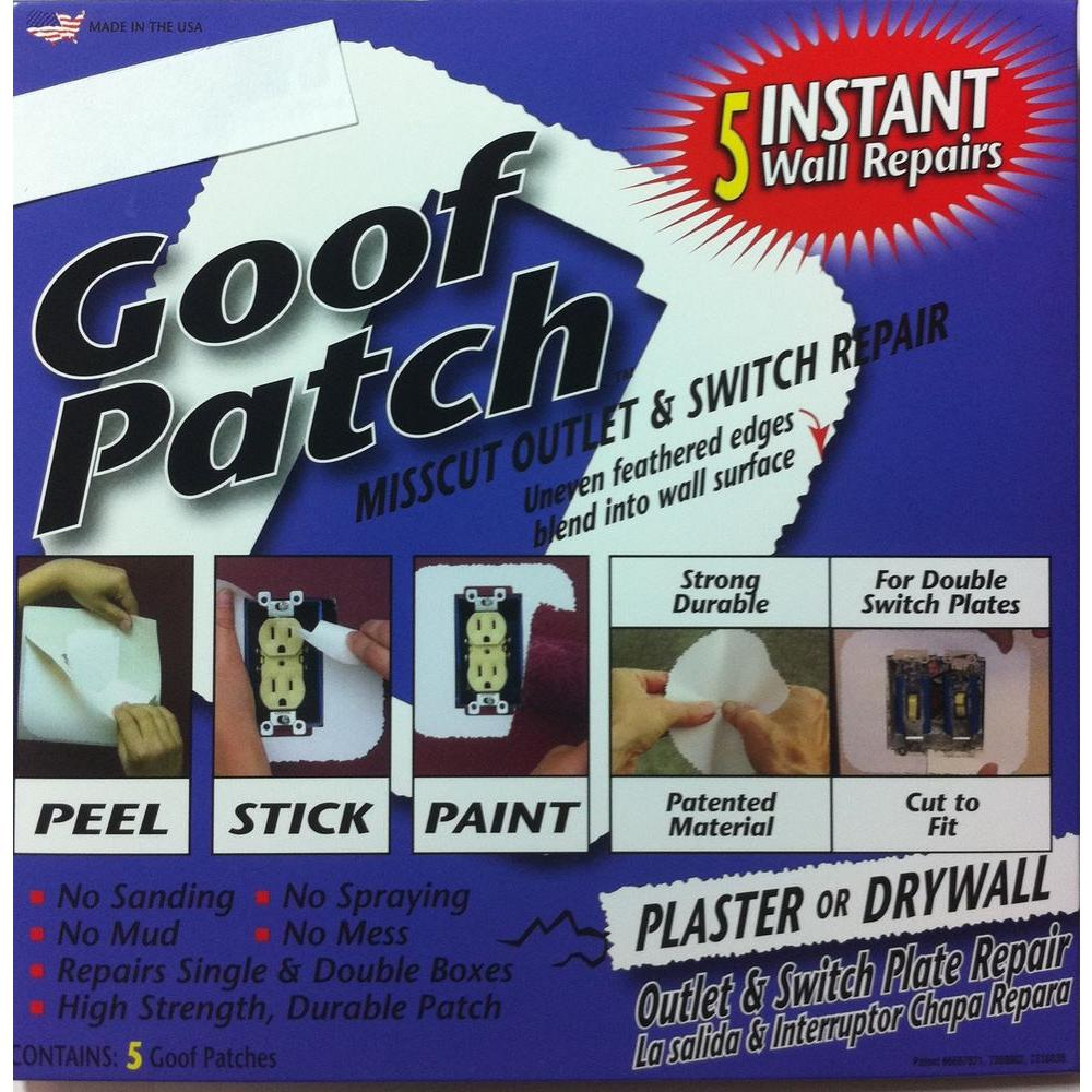 6 in. x 6 in. Self-Adhesive Goof Patch Pre-Textured Mis-Cut Switch