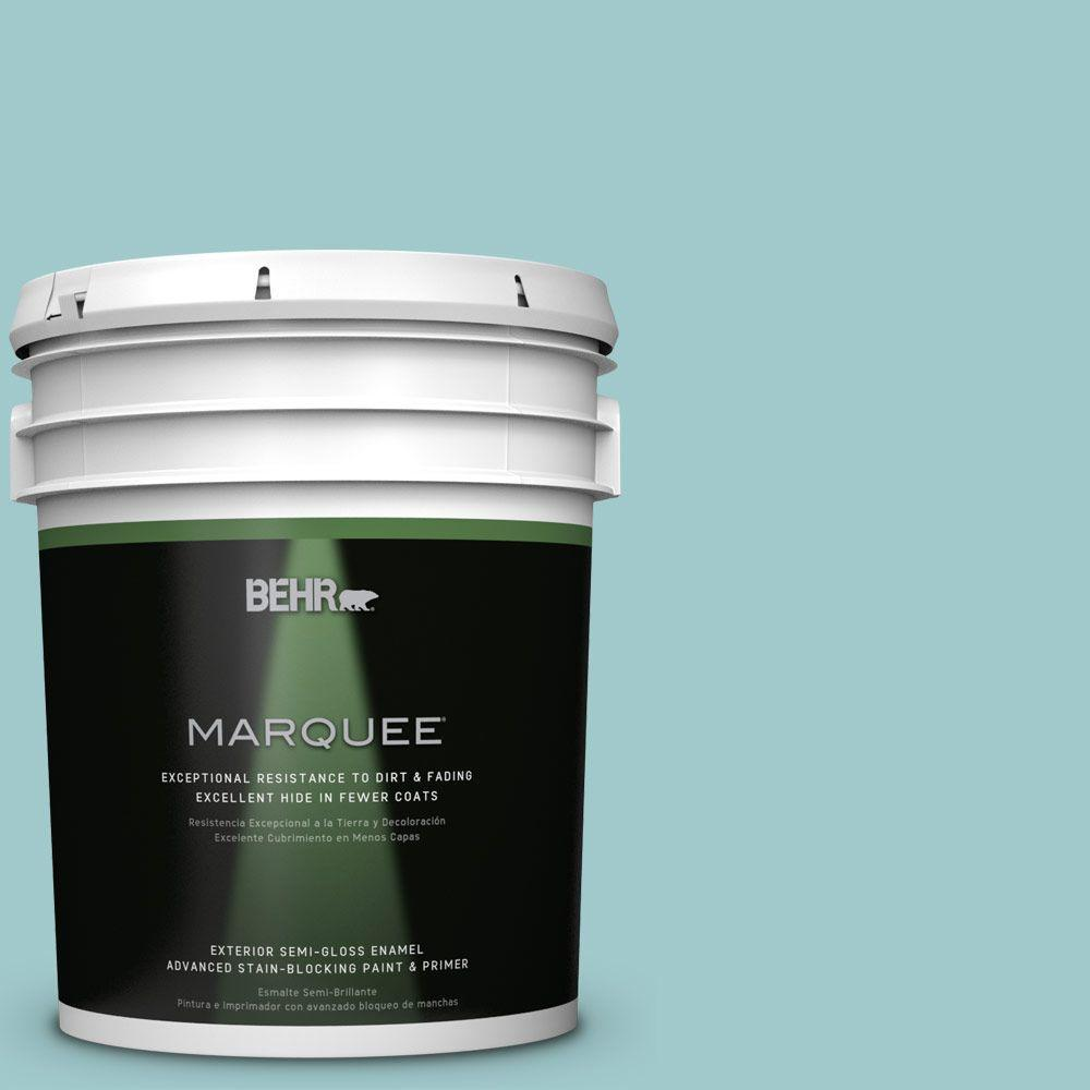 BEHR MARQUEE 5 gal. #HDC-SP16-08 Blue Bell Semi-Gloss Enamel Exterior