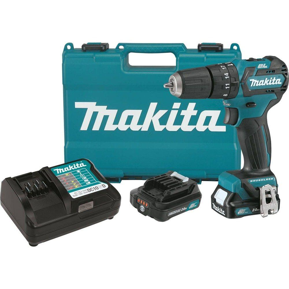 12-Volt MAX CXT Lithium-Ion 3/8 in. Brushless Hammer Driver-Drill Kit